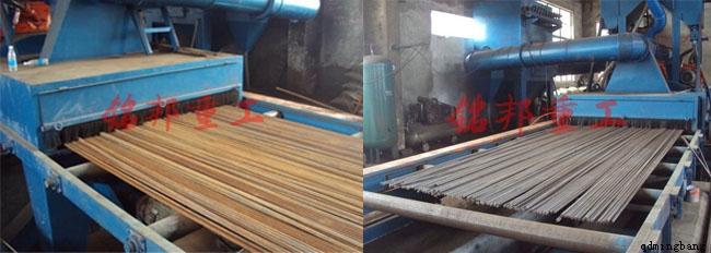 抛丸设备顾名思义就是抛丸的机器设备,通俗一点讲抛丸设备可以除掉金属件表面的锈层、焊渣及氧化皮,使金属的表面获得均匀的金属光泽,表面产生一定程度的凹凸不平的效果,增加金属件的摩擦系数及涂料的附着力。抛丸设备是目前国际上对各种零部件、钢结构件、H钢、钢板等工件表面清理、强化、光饰、去毛刺的一种先进工艺之一。抛丸设备是利用抛丸器向金属工件抛射出钢砂达到清理或强化的表面铸造设备。抛丸清理设备根据工件的尺寸又可分为多种型号,但大致的结构都主要有抛丸器、抛丸室、提升机、分离器、进料出料装置、除尘器、循环系统。