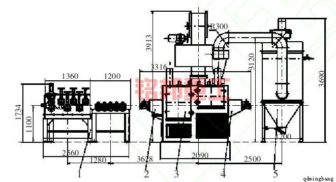线材抛丸机的组成结构图